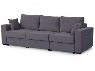 Диван-кровать Неаполь-1 Вариант 2 Серый велюр