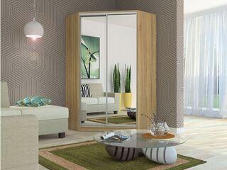 Шкаф-купе угловой Елена с двумя зеркалами Дуб сонома