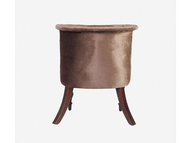 Кресло Бархат коричневый-темный орех
