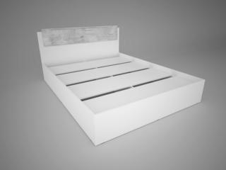 Кровать 1,6 Соренто Белый-МДФ Рамбла ШхВхГ 1640х850х2052 мм