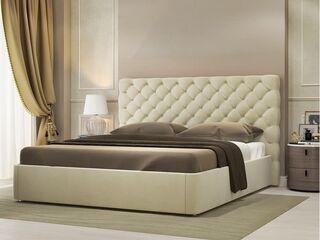 Кровать Эстель Велюр Топленое молоко с подъемным механизмом