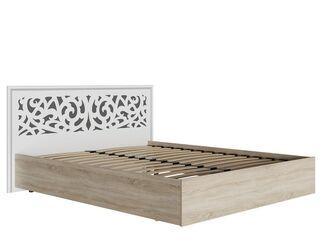 Кровать Мадлен МДФ Фотопечать Серебро 1600 с ортопедическим основанием