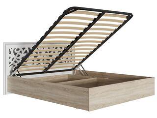 Кровать Мадлен МДФ Фотопечать Серебро 1600 с подъемным механизмом