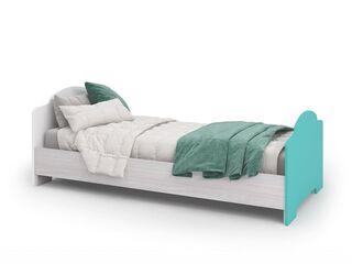 Кровать Миа КР-052 Белый-бирюза