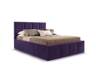 Кровать Октавия вариант 3 Фиолетовый велюр