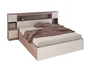 Кровать с прикроватным блоком 1600 Бася КР-552 шимо темный-шимо светлый