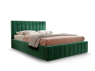 Кровать Вена вариант 1 Зеленый велюр