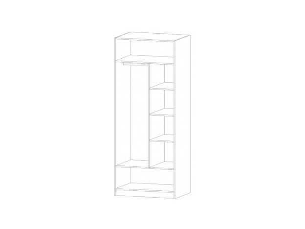 Шкаф 2-х створчатый Диана анкор светлый