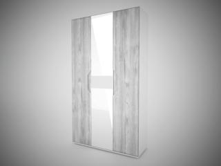 Шкаф 3-х створчатый с 2 зеркалами Соренто Белый-МДФ Рамбла ШхВхГ 1200х2132х450 мм