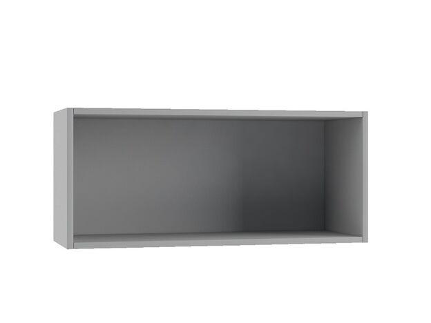 Шкаф навесной горизонтальный со стеклом ПГС800 Империя МДФ сандал ШхВхГ 800х350х280 мм