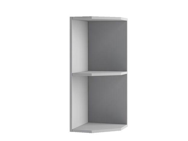 Шкаф навесной угловой торцевой ПТУ300 Империя ЛДСП серый ШхВхГ 300х700х280 мм