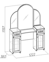 Спальня Милана Стол туалетный 1 1222х383х1707