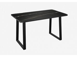 Стол Хьюстон Черный тунис-черный металл