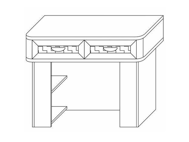 Стол туалетный Парма венге-экокожа кайман темный