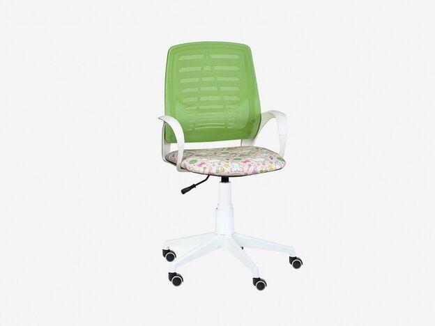 Кресло детское Ирис White сетка W салатовая-Т54 единорог