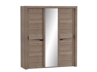 Шкаф 3-х дверный с раздвижными дверями Соренто Дуб стирлинг
