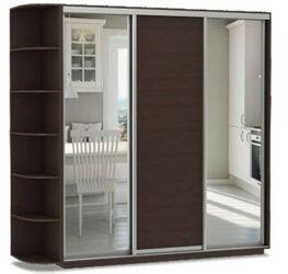 Шкаф-купе 3-х дверный Трио Медиум 2 зеркала