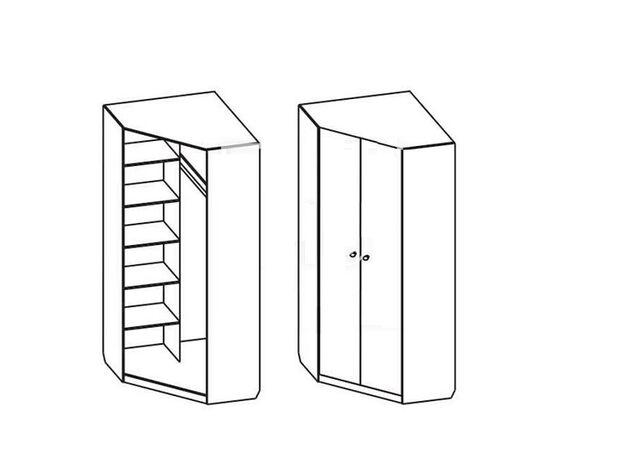 Шкаф угловой Мария Дуб сонома