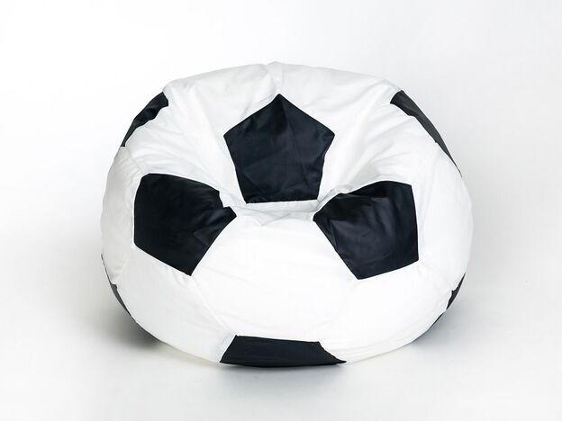 Кресло-мешок Футбольный мяч большой Бело-черный