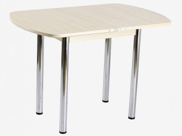 Стол поворотно-раскладной СПГ-01 СТ дуб молочный-стекло песочное